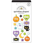 Doodlebug Design - October 31st Collection - Halloween - Sprinkles - Self Adhesive Enamel Shapes - Spooky Sidekicks