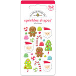 Doodlebug Design - Sugarplums Collection - Christmas - Sprinkles - Self Adhesive Enamel Shapes - Jolly Holiday