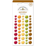 Doodlebug Design - Fall Friends Collection - Sprinkles - Self Adhesive Enamel Dots - Fall Assortment