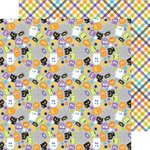 Doodlebug Design - October 31st Collection - Halloween - 12 x 12 Double Sided Paper - Spooky Friends