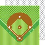 Doodlebug Design - Home Run Collection - 12 x 12 Double Sided Paper - Back Stop