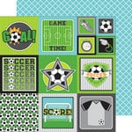 Doodlebug Design - Goal Collection - 12 x 12 Double Sided Paper - Goal