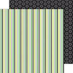 Doodlebug Design - Goal Collection - 12 x 12 Double Sided Paper - Soccer Stripe