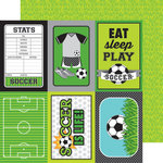 Doodlebug Design - Goal Collection - 12 x 12 Double Sided Paper - Soccer Field