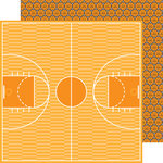 Doodlebug Design - Slam Dunk Collection - 12 x 12 Double Sided Paper - Basketballs