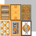 Doodlebug Design - Slam Dunk Collection - 12 x 12 Double Sided Paper - Swish