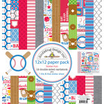 Doodlebug Design - Home Run Collection - 12 x 12 Paper Pack