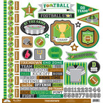 Doodlebug Design - Touchdown Collection - 12 x 12 Cardstock Stickers - This and That