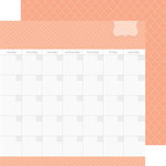 Doodlebug Design - Daily Doodles Collection - 12 x 12 Double Sided Paper - Coral