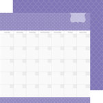 Doodlebug Design - Daily Doodles Collection - 12 x 12 Double Sided Paper - Lilac