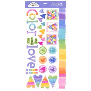 Doodlebug Design - Cardstock Stickers - Color of Love