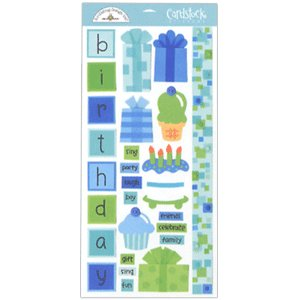 Doodlebug Design - Cardstock Stickers - Birthday Boy
