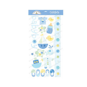 Doodlebug Design - Cardstock Stickers - Baby Boy
