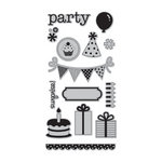 Doodlebug Design - Hampton Art - Unmounted Rubber Stamps - Party Time