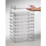 Perfect Paper Stackable Paper Trays (12 x 12) - Lipped (10 Pack)