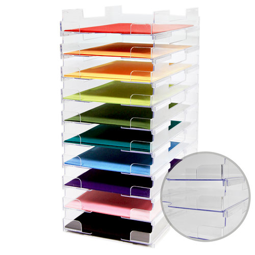 Display Dynamics Perfect Paper Stackable Paper Trays (8.5 x 11) - 10 Pack