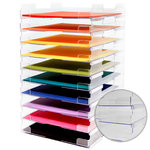 Display Dynamics - Perfect Paper Stackable Paper Trays - 12x12 - Lipped - 10 Pack