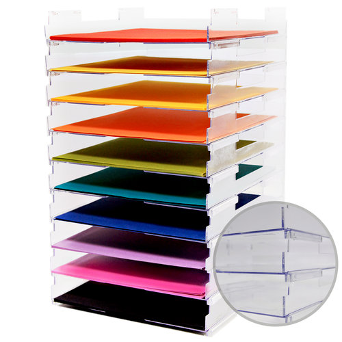 Umbrella Crafts - 12 x 12 Stackable Paper Trays - No Lip - 10 Pack