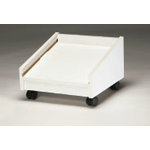 Display Dynamics - 12x12 Stacking Tray Rolling Base - Angled - Single Tower - Wood