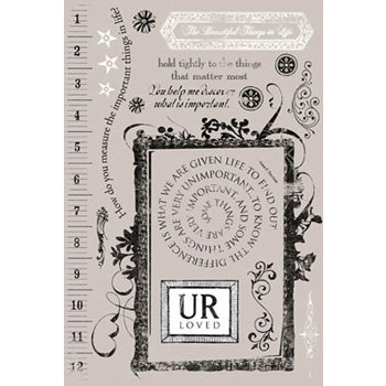 Daisy D's Paper Company - Rub-Ons Transfers - UR Loved