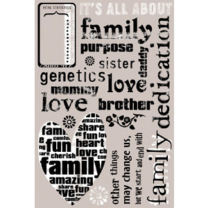 Daisy D's Paper Company - Rub On Transfers - Family Defined
