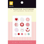 Daisy D's Paper Company - Valentine's Day Collection - Painted Fasteners Brads, CLEARANCE