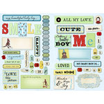 Daisy D's Paper Company - Bambino Collection - Cardstock Die-Cuts - Sweet Baby Boy, CLEARANCE