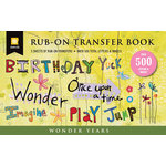 Daisy D's Paper Company - Wonder Years Collection - Rub-On Transfer Book - Wonderland, CLEARANCE