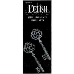 Delish Designs - Bistro Collection - Metal Charms - Bistro Keys