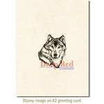 Deep Red Stamps - Cling Mounted Rubber Stamp - Wolf Portrait