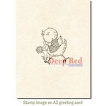 Deep Red Stamps - Cling Mounted Rubber Stamp - Spring Chicken