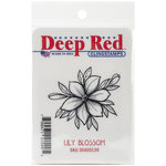 Deep Red Stamps - Cling Mounted Rubber Stamp - Lilly Blossom