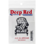 Deep Red Stamps - Cling Mounted Rubber Stamp - Alice in Armchair