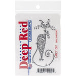 Deep Red Stamps - Cling Mounted Rubber Stamp - Fancy Cat