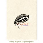 Deep Red Stamps - Halloween - Cling Mounted Rubber Stamp - Vampire SWAK