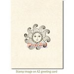 Deep Red Stamps - Cling Mounted Rubber Stamp - Miss Sunshine