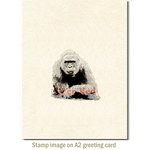 Deep Red Stamps - Cling Mounted Rubber Stamp - Gorilla