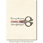 Deep Red Stamps - Cling Mounted Rubber Stamp - Running with Scissors
