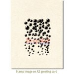 Deep Red Stamps - Cling Mounted Rubber Stamp - Bubbles Background