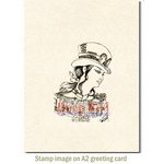 Deep Red Stamps - Cling Mounted Rubber Stamp - Steampunk Warrior