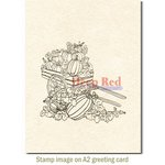 Deep Red Stamps - Cling Mounted Rubber Stamp - Pumpkin Harvest