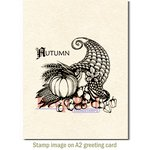 Deep Red Stamps - Cling Mounted Rubber Stamp - Cornicopia