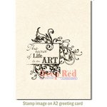 Deep Red Stamps - Cling Mounted Rubber Stamp - Secret of Life
