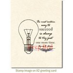 Deep Red Stamps - Cling Mounted Rubber Stamp - Always Succeed