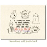 Deep Red Stamps - Cling Mounted Rubber Stamp - Inner Demons