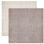 Dream Street Papers - Clubhouse Collection by Tracy Whitney - 12x12 Double Sided Paper - Bull's Eye, CLEARANCE