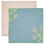 Dream Street Papers - Enchanted Collection by Tracy Whitney - 12x12 Double Sided Paper - Fairy Garden, CLEARANCE