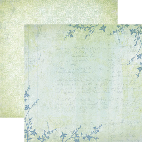 Dream Street Papers - Nature's Poetry Collection - 12 x 12 Double Sided Paper - Rustling Boughs
