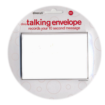 Dinotalk - Naked Collection - Recordable Gift Card Holder - Talking Envelope - White