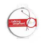 Dinotalk - Naked Collection - Christmas - Recordable Talking Ornament - White